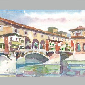 Ponte Vecchio a Firenze ( puente y arcadas)